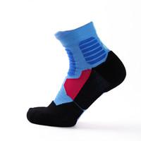 Wholesale Mens Hosiery - Mens Socks Tall Soft Cotton Basketball Sport Warm Skid Resistance Autumn Winter European Style Fashion Hosiery New