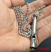Wholesale Ti Pendant Necklace - Titanium Ti Necklace Charm Pendant,Key Chain, Survival Whistle