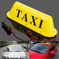 LED 12V Car Taxi Cab Roof Top Sign Light Lamp Amarelo