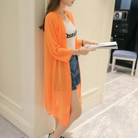 Wholesale Woman Trench Coat Free Pattern - 2017 New Women Trench Coat Chiffon Casual Slim Summer Sunscreen Clothing Long Sleeve Solid White Black Open Stitch Plus Size