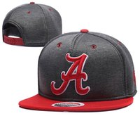 Alabama Crimson Tide Gorras de baloncesto, Snapback College Football Hats, Gorra ajustable, 2016 New Style Cheap Alabama Hat, Wholesale, Free Shipping
