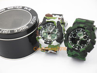 Wholesale Wholesale Digital Camo Military - camo ga100 TOP brand new relogio dual display sports watch GMT army military shocking watches men Casual Watches no box wholesale 5pcs