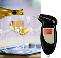 Seguridad profesional de conducción de pantalla LED Digital LCD Alcohol Breath Tester Breathalyzer Analizador Detector Test Keychain