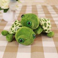 Wholesale Stuffed Turtles Big Eyes - 10pcs lot 7'' 20CM cute little turtle cute stuffed animals with big eyes ty dolls Tortoise children gift pendant giveway gifts