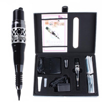make-up-ausrüstung großhandel-USA Biotouch Mosaik Tattoo Kits Permanent Make-up Rotary Maschine Stift Schönheit Ausrüstung Für Augenbrauen Eyeliner Lippen Kosmetik Make-up