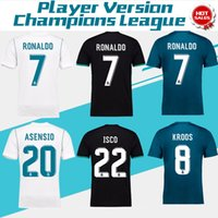 Wholesale Polyester Wrinkles - 2018 Champions League Player Version Soccer Jersey 2017 18 Real Madrid Home Away 3rd Soccer Jerseys 17 18 Ronaldo ASENSIO Football Jeresys