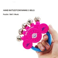 Wholesale Small Baby Hand Fingers - Wholesale- Hand baby rattles bell hand bells clang fingers bell children's nursery Stainless steel Infant toys five small bells