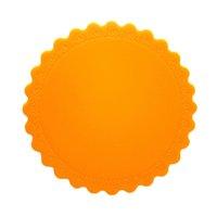 Wholesale Orange Coasters - Wholesale- Hot sale Orange 1 pc 14.3cm Round Non-Slip Heat Resistant Coaster Pot Holder Silicone Mat Kitchen Accessories