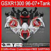 Wholesale Suzuki 1997 - 8Gifts 23Colors For SUZUKI Hayabusa GSXR1300 96 07 1996 1997 1998 Lucky Strike 15NO83 GSXR 1300 GSXR-1300 GSX R1300 1999 2000 2001 Fairing