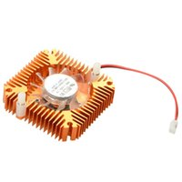 Wholesale Cooling Fan 55mm - Wholesale- 55mm 2 PIN Aluminum Snowhite Cooling Fan Heatsink Cooler Fit For PC Computer CPU VGA Video Card P0.16