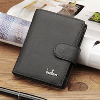 Wholesale Coffee Holder Bags - Men Business Cowhide Leather Trifold Wallets Short Card Holder Wallet Money Bag True Leather 100% Hasp Black or Coffee Color A321