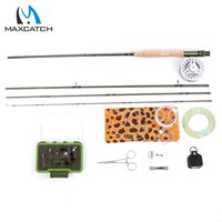 Wholesale- Maximumcatch Fly Rod 9ft 5wt 4pc ALC5 / 6wt Fly Reel WF 5F Fly Line et accessoires Combinaison de pêche