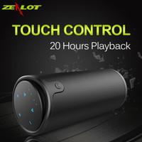 ingrosso altoparlanti vivavoce del bluetooth-All'ingrosso ZEALOT S8 3D Stereo HiFi Altoparlante Bluetooth Wireless Touch Control Subwoofer Vivavoce con supporto per microfono TF Card Play