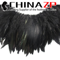 Wholesale Top Quality CHINAZP Pieces inch Special Multicolor Rooster Schlappen Strung Feather for Fashion Show
