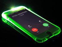 iphone bedeckt licht groihandel-Günstige TPU + PC LED Blitzlicht Fall erinnern eingehenden Anruf Abdeckung für iPhone 7 SE 6 6 S Plus Samsung S7 S6 Edge Note 5 Klare transparente Haut