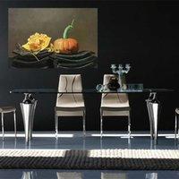 Wholesale Rectangle Tile - Yi Le Mai Frameless Pure Hand Painted Restaurant Wall Decoration Art Oil Painting Pumpkin on Tile