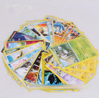 Wholesale English Cartoon For Children - Poke Trading Cards 17pcs sets English Anime Pocket Monsters Pikachu Cards Poker Battle Flash card For Children Toys DHL C1135