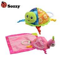 Wholesale Little Turtle Toys - Wholesale- 1pcs Sozzy Baby Rattle Toys Sozzy Little Turtle Plush Toys Infant Appease Towels Doll Baby Toys