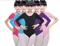 Wholesale Girls Gymnastics Clothing - Leotard for children Ballet Bodysuit Girls dancewear Gymnastics School performance Dance Exam Clothing Logo print Custom-made 2-9years