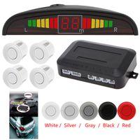 Wholesale Ultrasonic Detectors - 1 Set Sale Car Auto Parktronic LED Parking Sensor Ultrasonic Reverse Backup Sensors Radar Detector Kit with Backlight Display CAL_200