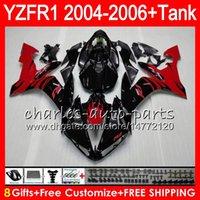 yzf r1 verkleidungskit flamme großhandel-8Gift 23Farbe Körper für YAMAHA YZF R 1 YZF 1000 YZFR1 04 05 06 58HM16 YZF-R1000 rote flammen YZF-R1 YZF1000 YZF R1 2004 2005 2006 Verkleidung kit