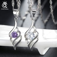 Wholesale swa elements - 925 Sterling Silver Necklace,18K Platinum Plaing with Genuine Austria Crystal SWA Elements Fashion Necklace ON04