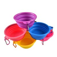 Wholesale Travel Dog Dishes - Dog Bowl Dog Cat Pet Travel Bowl Silicone Collapsible Feeding Water Dish Feeder portable water bowl for pet