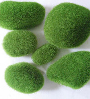 Wholesale Foam Plant - New Arrival 5pcs set Fairy Garden Mini Foam Flocking Stone Craft Moss House Home Decoration Bonsai Succulent Gnomes Micro Landscape