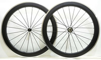 Wholesale Aluminum Road Wheelset - Free shipping Alloy Brake Surface wheelset 60mm depth 23mm width Aluminum brake carbon road bike wheels with Powerway R36 hub