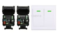 Wholesale Digital Wireless Remote Power Switch - Wholesale- New digital Remote Control Switch AC220V 2* Receiver Wall Transmitter Wireless Power Switch 315MHZ Radio Controlled Switch Relay