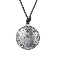 Wholesale Michael Necklace - Sigil of 7 Archangel Michael Raphael Uriel Thavael Gabriel Sigil of Archangel Angel Talisman Angel Men Pendant Male Necklace Women Chain Ro