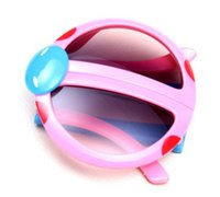 vasos de plástico para niños al por mayor-2017 UV400 Espejo de Moda Niños Gafas de Sol de Plástico de Dibujos Animados Sun Glass Para Niños Niñas Oculos Infanti 20 Unids Niños Sunglass gafas para niños