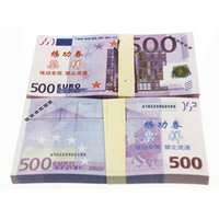 Wholesale High Glossy Paper - 100pcs set High Quality Euro 500 Bank Training Banknotes Home Decorate Souvenir Arts Collectible Gifts Poker Game Chips Movie Props Money