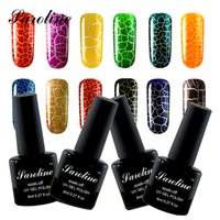 Großhandel Saroline 8ml Crack Nagel Gel Polnisch UV LED Knistern UV Lack Knacken Shatter Nails Lack Nail Art Gel 12 Bunte