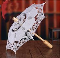 Wholesale China Parasols - Hot Sale Bridal Accessories Bridal Umbrellas Lace Parasol Hollow Wedding Umbrellas For Wedding Fans & Parasols From China