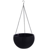 Elegante Tessitura Design elegante self Watering Hanging pianta del fiore Planter Basket per le piante supporto di POT con indicatore di livello dell'acqua