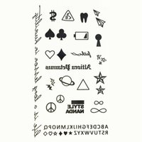 Wholesale Sexy Cartoon Tattoos - Wholesale- 2016 New Cartoon Water Transfer Waterproof Temporary Candy Color Tattoo Sticker Body Art Sexy Makeup