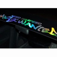 Wholesale new body car for sale - New Laser Reflective Letters Auto Car Front Window Windshield Decal Stickers For BMW Audi Peugeot Car Styling