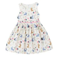 Wholesale New Sundresses - 2017 Summer New Girl Dress European American Style Cotton Floral Cotton Sundress Children Clothing 1-16Y H1702