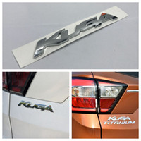 Wholesale Chrome Letter Decals - KUGA Letters Logo Chrome ABS Decal Car Rear Trunk Lid Badge Emblem Sticker for Ford KUGA