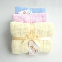 Wholesale Sleep Crib - New 100% Cotton Baby Blanket Knitted Breathable Props Kids Crib Casual Sleeping Hole Wrap Blankets Baby Stroller   Car Swaddling