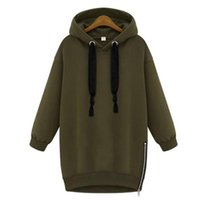 Wholesale Thick Cotton Womens Hoodie - New Arrival 2017 Autumn Womens Long Sleeve Hooded Loose Casual thick Warm Hoodies Sweatshirt women coat 4 Colors Plus Size S-2XL women tops