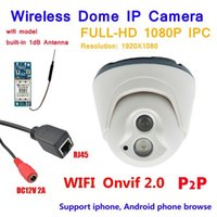 Wholesale High Resolution Ir Dome Camera - High resolution! Full-HD 2.0Megapixel Wifi Camera support 1080P IR Night vision Indoor Dome P2P Motion detect Network Wireless IP Camera