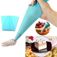 Wholesale Silicone Cake Bag - 30cm Silicone Pastry Cake tool Decorating Cream Icing Piping Bag cozinha Styling Tool Bakery Dessert Baking Kitchen Accessories <$16 no trac