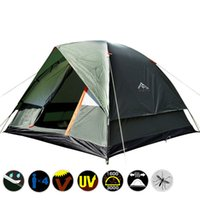 Wholesale Fiberglass Types - 3 Person 200*200*130cm Double Layer Weather Resistant Outdoor Camping Tent for Fishing Hunting Adventure and Family Party