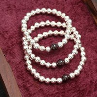 Wholesale Authentic Ale - Authentic 925 Sterling Silver Beads Bracelets For Women 6MM Silver Beads With Garnet ALE Style Jewelry Bracelets BS00433-6MM