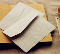 Atacado-5pcs / lot 170 * 120mm / Vintage Novo Grey Grain estilo DIY Multifunções envelope de papel Kraft