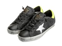 Wholesale South Korea Mens - Golden South Korea To Do the Old Dirty Shoes Black GGDB Mens Womens New Sudents Spring Five Pointed Star Flat Bottom Increase Sneakers