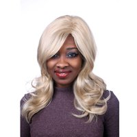 Wholesale Wig Blond Cosplay - Fast to send half of the mixed hair blond women to participate in the extreme long and curly hair and hair Manic Panic wig cosplay