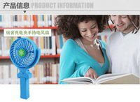 Wholesale NEW Handy Usb Fan Foldable Handle Mini Charging Electric Fans Snowflake Handheld Portable For Home Office Gifts RETAIL BOX DHL